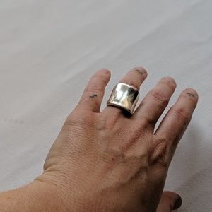 Thick sterling silver big ring size 6